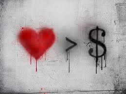 mayor el amor que el dinero
